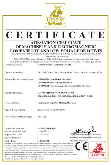 CE para automática Flap disco que hace la máquina
